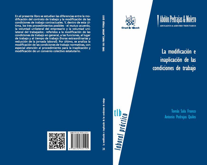 LIBRO 24.- La modificación e inaplicación de las condiciones de trabajo.