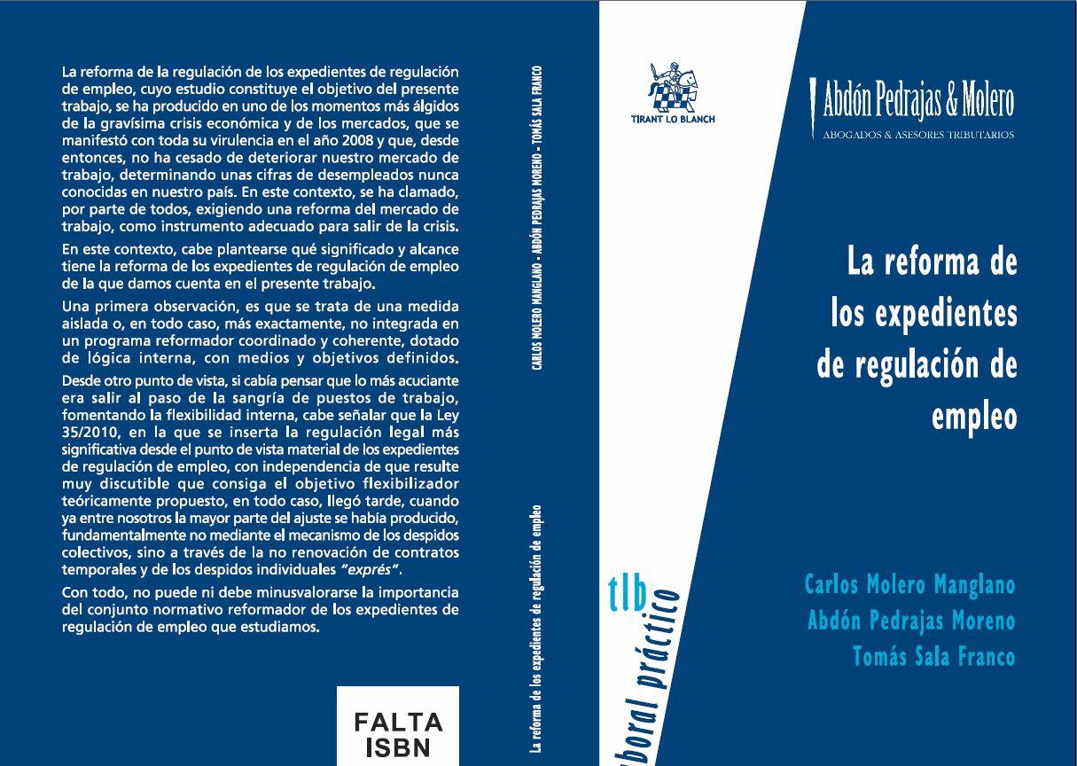 LIBRO 18.- La reforma de los expedientes de regulacion de empleo