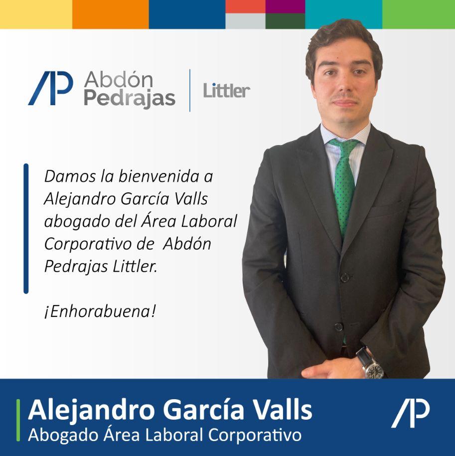 Alejandro García Valls - Abogado Área Laboral Corporativo