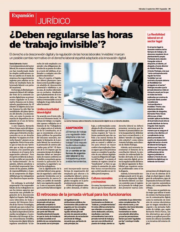 "¿Deben regularse las horas de ""trabajo invisible""? - La flexibilidad laboral en el sector legal"