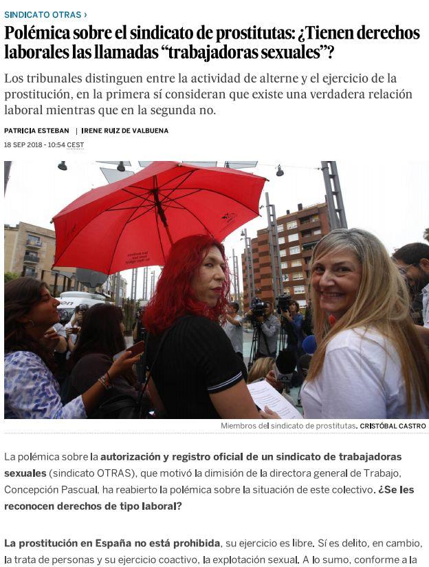 """Polémica sobre el sindicato de prostitutas: ¿Tienen derechos laborales las llamadas """"trabajadoras sexuales""""?"""