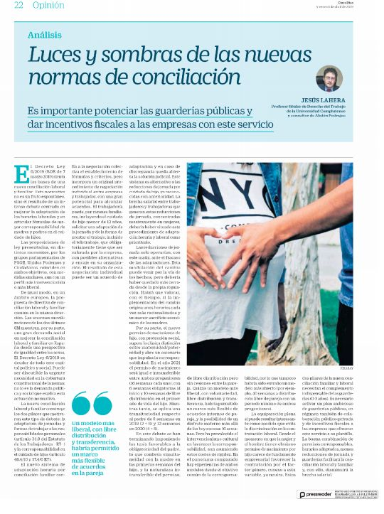 Luces y Sombras de las Nuevas Normas de Conciliación.