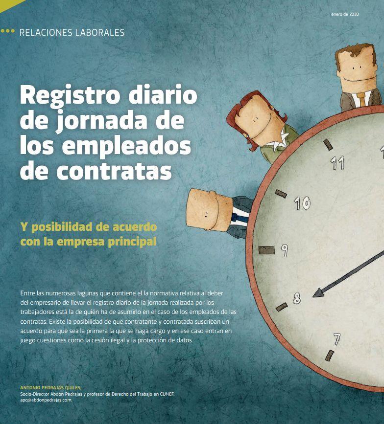 Registro diario de jornada de los empleados de contratas
