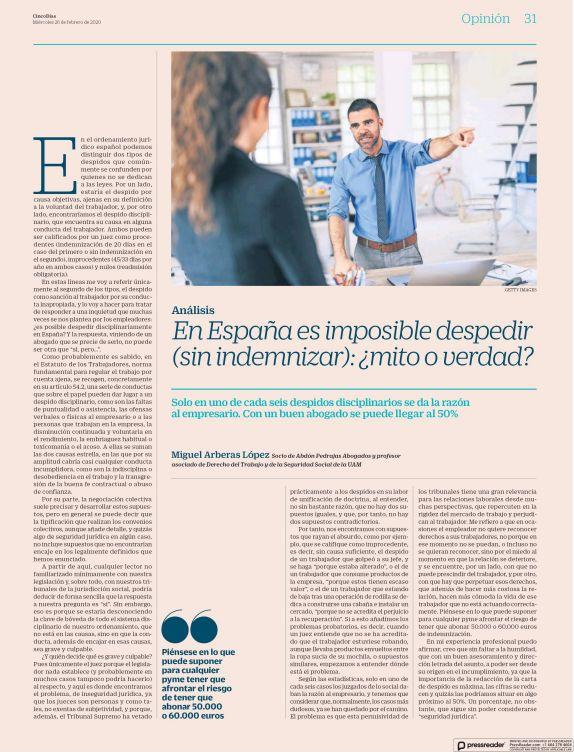 En España es imposible despedir (sin indemnizar): ¿mito o verdad?