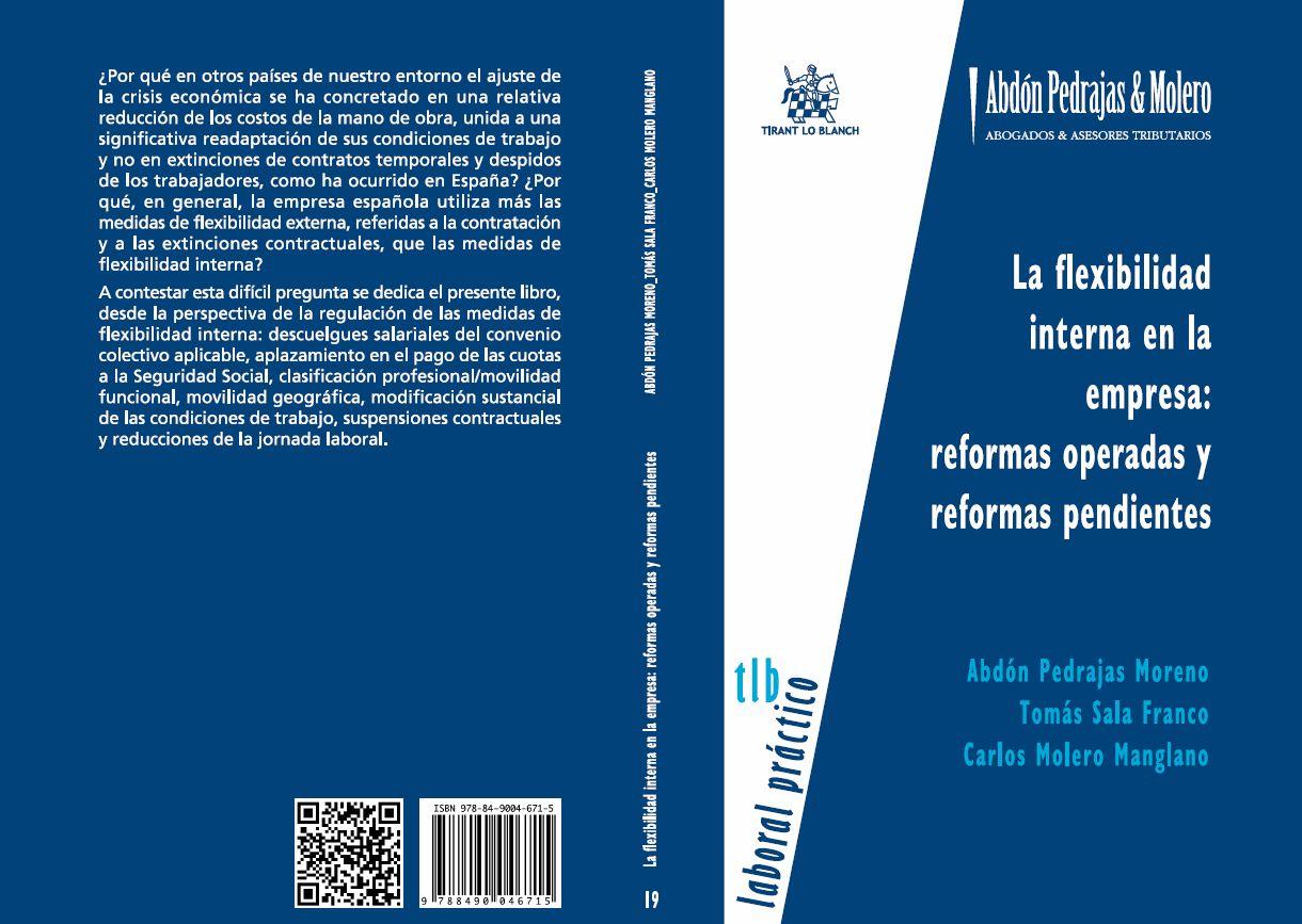 LIBRO 19.- La flexibilidad interna en la empresa: reformas operadas y reformas pendientes