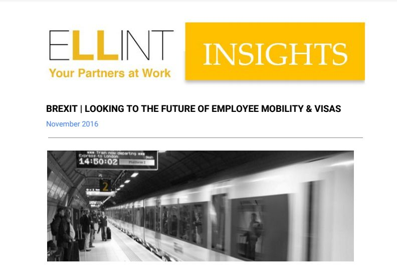 ELLINT Insights - BREXIT Looking to the Future of Employee Mobility & Visas