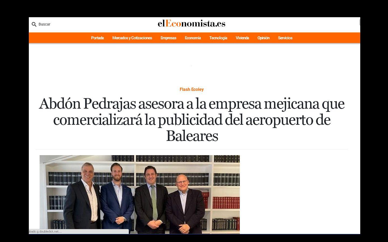 Abdón Pedrajas asesora a la empresa mejicana que comercializará la publicidad del aeropuerto de Baleares
