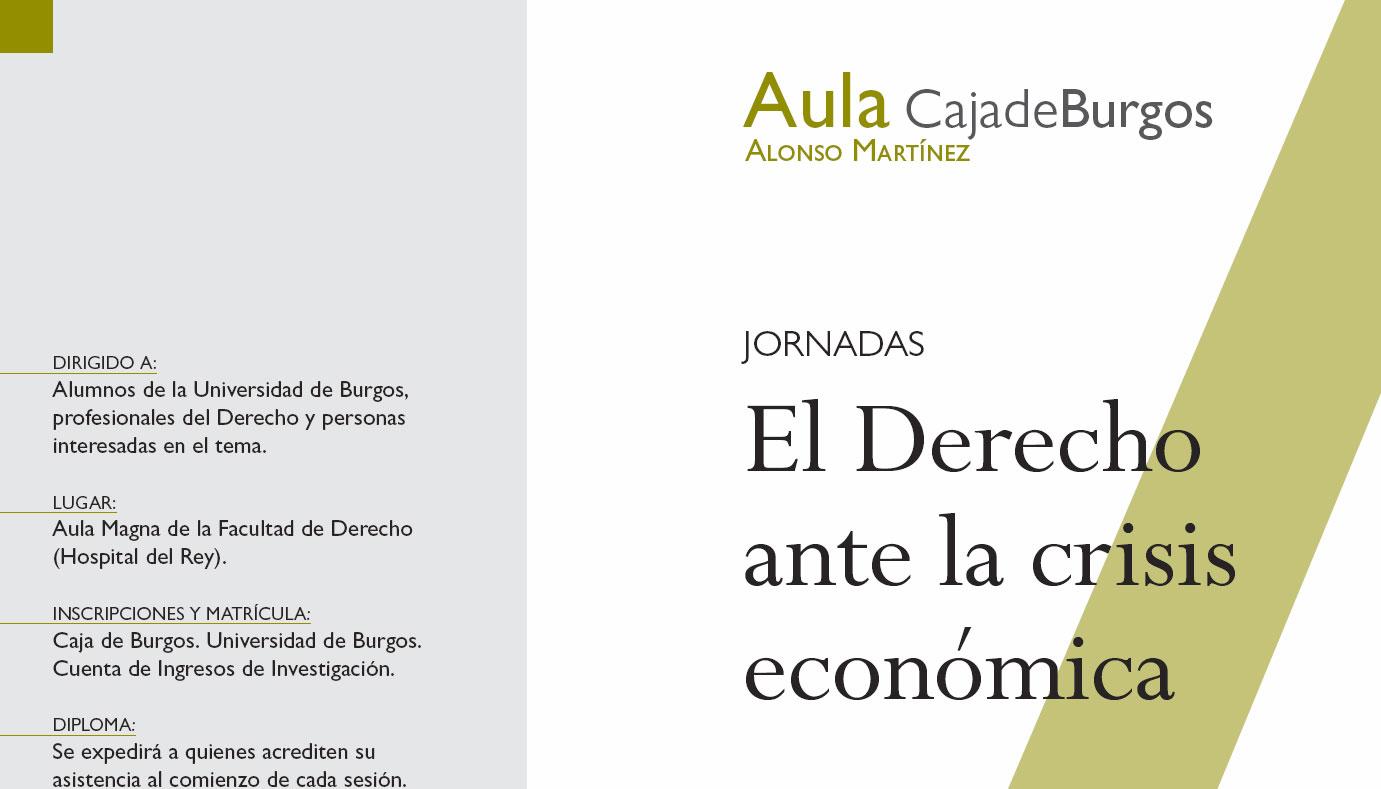 Jornadas El Derecho ante la crisis económica