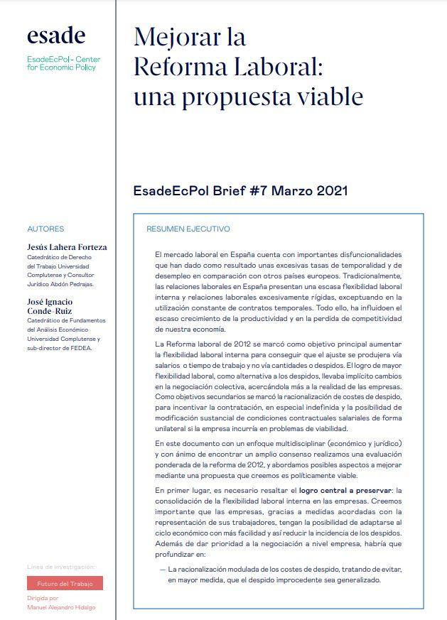 Mejorar la Reforma Laboral: una propuesta viable