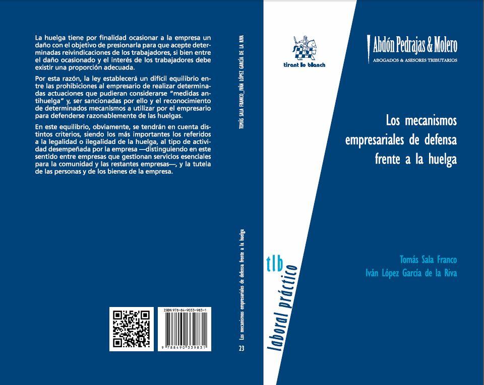 LIBRO 23.- Los mecanismos empresariales de defensa frente a la huelga.