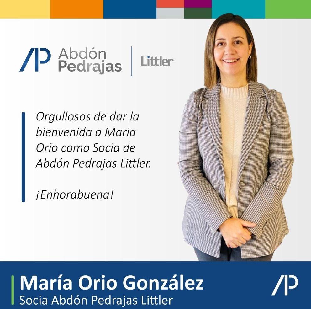 María Orio González - Socia Abdón Pedrajas Littler