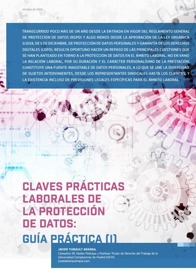Claves Prácticas Laborales de la Protección de Datos: Guía Práctica (I) - OBS 149 - Octubre 2019