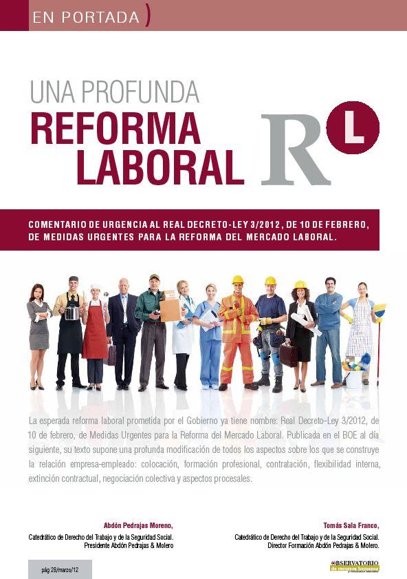 PUBLICACION  OBS Nº MARZO: UNA PROFUNDA REFORMA LABORAL PARA UNA NUEVA RELACION ENTRE EMPRESA Y EMPLEADO