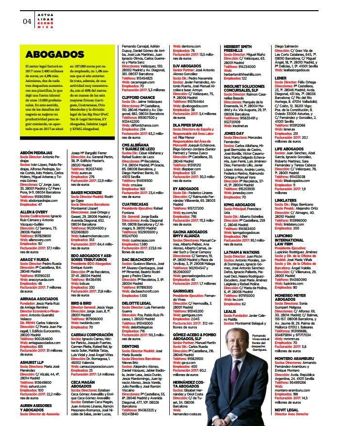 Abdón Pedrajas entre los despachos de abogados más destacados de España según Actualidad Económica El Mundo