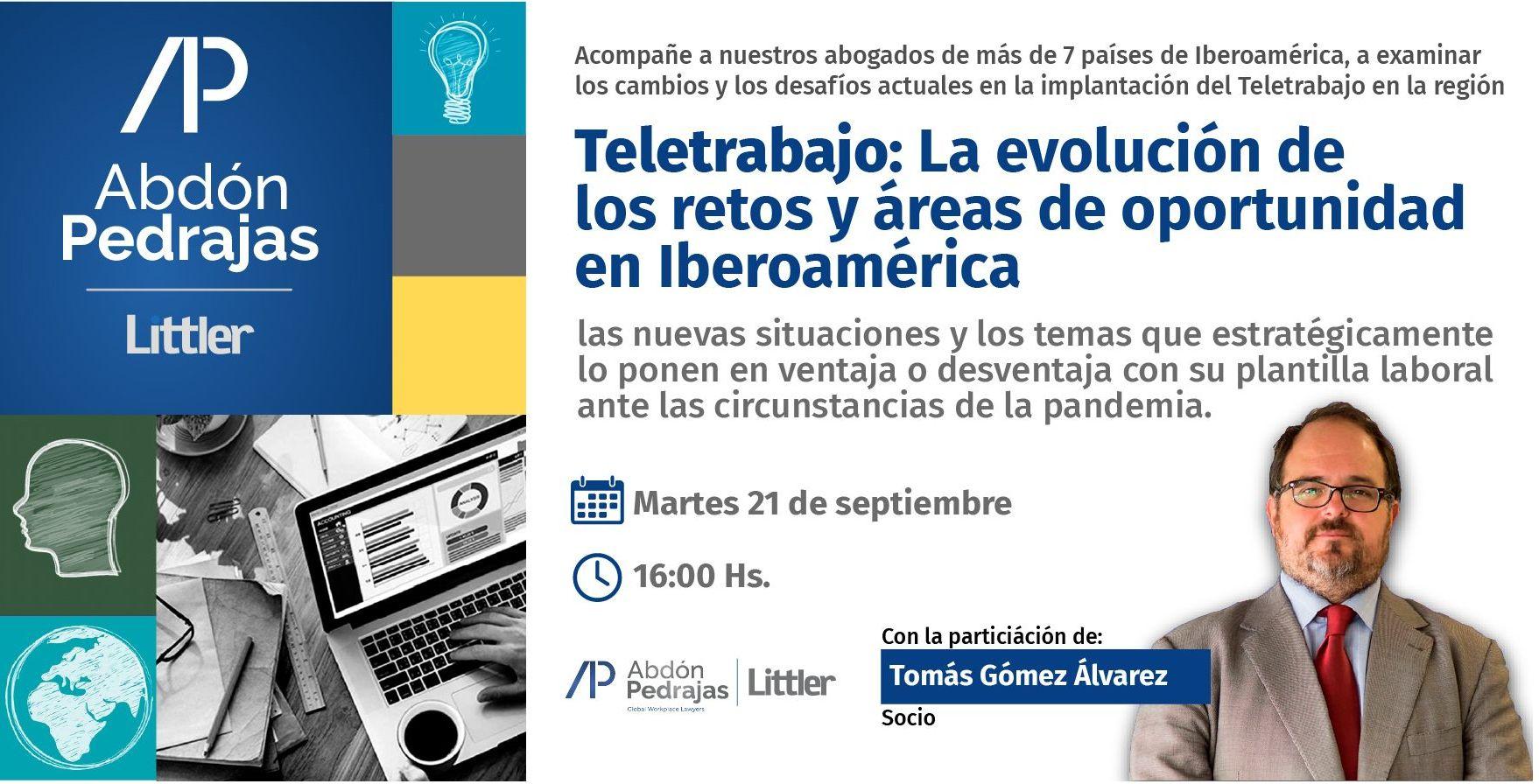WEBINAR -  Teletrabajo: La evolución de los retos y áreas de oportunidad en el Teletrabajo en Iberoamérica