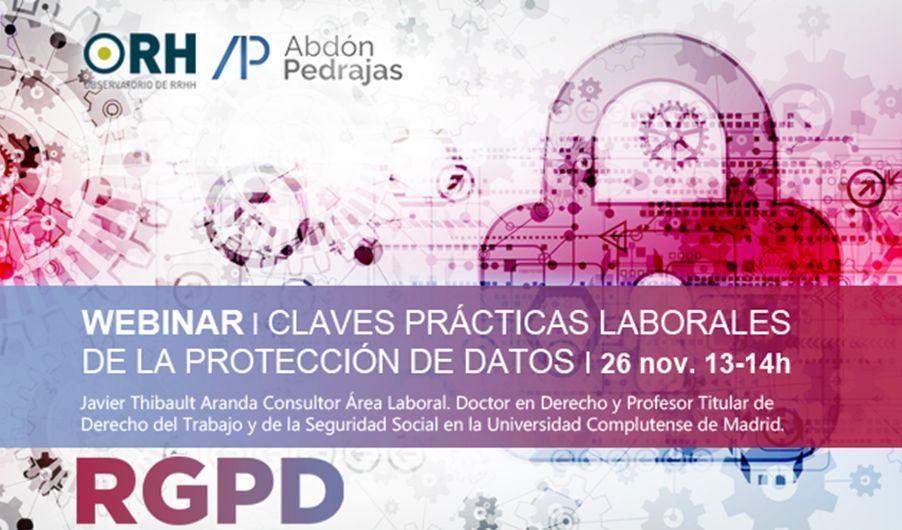 Webinar: Claves Prácticas Laborales de la Protección de Datos